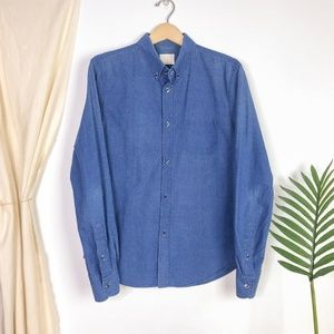 Band of Outsiders Blue Check Button Down Shirt